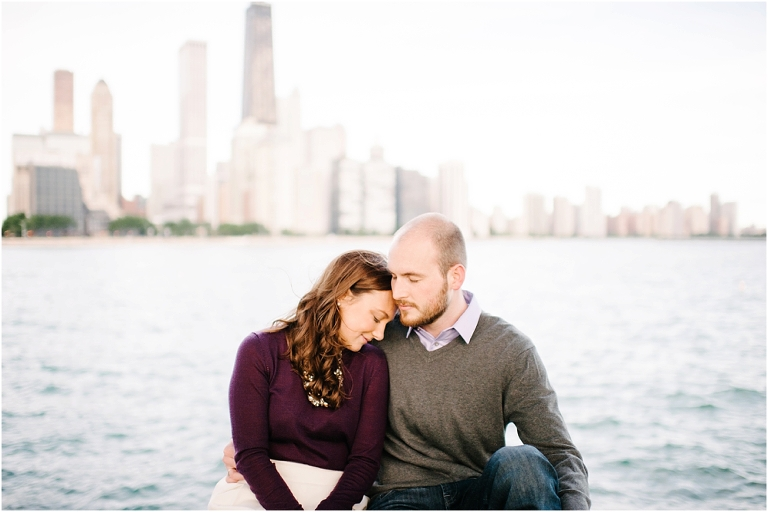 Riley + Megan Chicago Engagement Photography Lake Michigan Olive Park Chicago River Walk-13