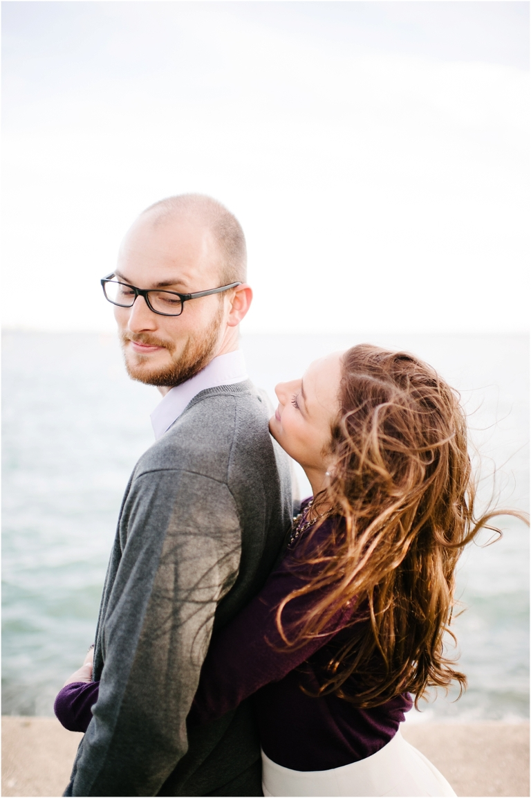 Riley + Megan Chicago Engagement Photography Lake Michigan Olive Park Chicago River Walk-14