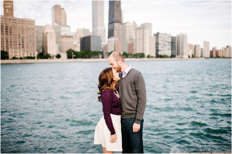 Riley + Megan Chicago Engagement Photography Lake Michigan Olive Park Chicago River Walk-2