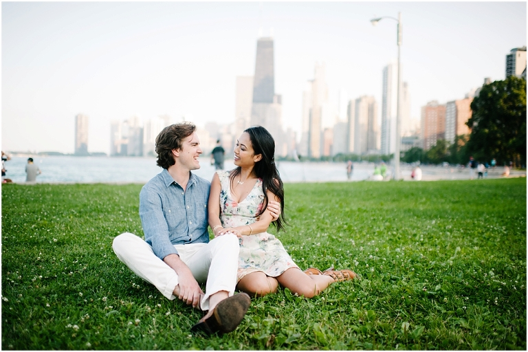 Dan + Pisey North Avenue Beach Chicago Engagement Photos Jasmine Nicole Photography -3
