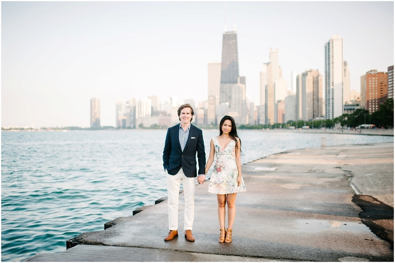 Dan + Pisey North Avenue Beach Chicago Engagement Photos Jasmine Nicole Photography -6