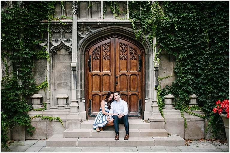Chicago Engagement Photography University of Chicago Bond Chapel Promontory Point Engagement Jasmine Nicole Photography -8