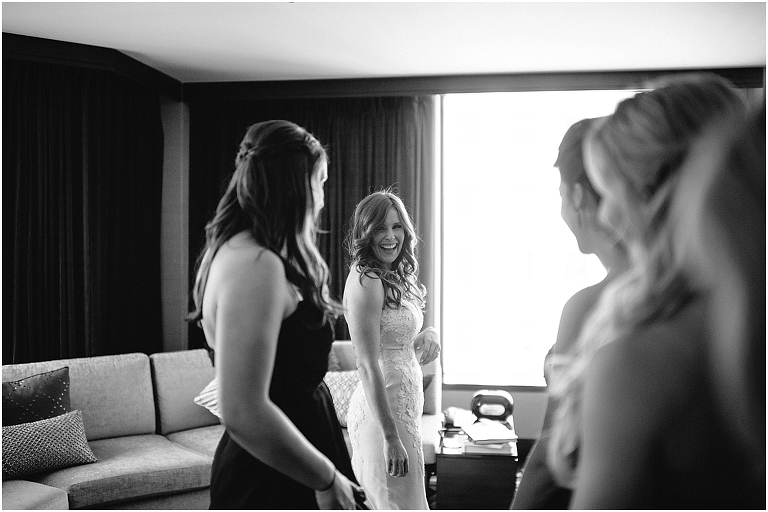 Valerie + Zachary Renaissance Hotel Chicago Wedding Photography Chicago River -9