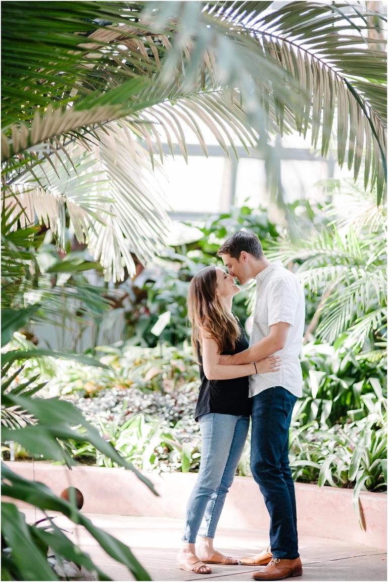 Christine + Nick Garfield Park Conservatory Engagement Photography Jasmine Nicole -1