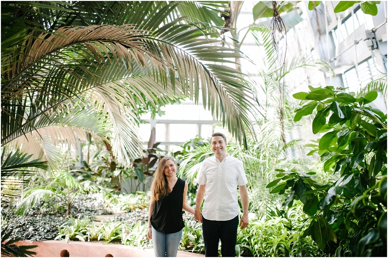 Christine + Nick Garfield Park Conservatory Engagement Photography Jasmine Nicole -2