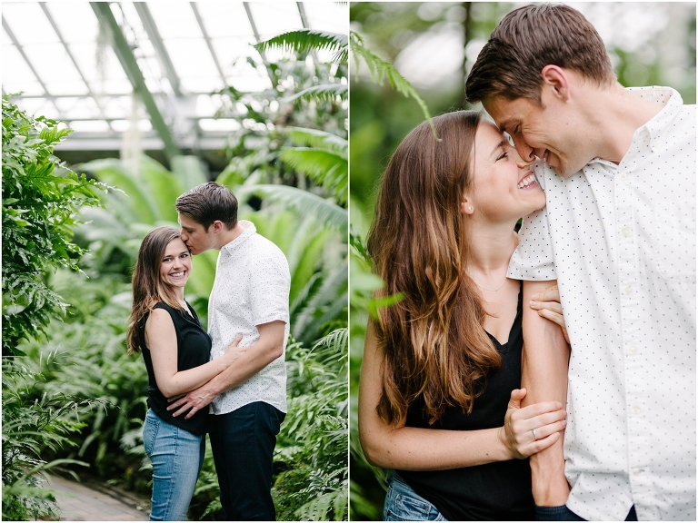 Christine + Nick Garfield Park Conservatory Engagement Photography Jasmine Nicole -3