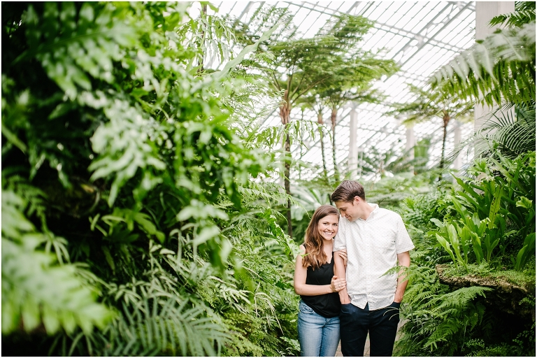 Christine + Nick Garfield Park Conservatory Engagement Photography Jasmine Nicole -4