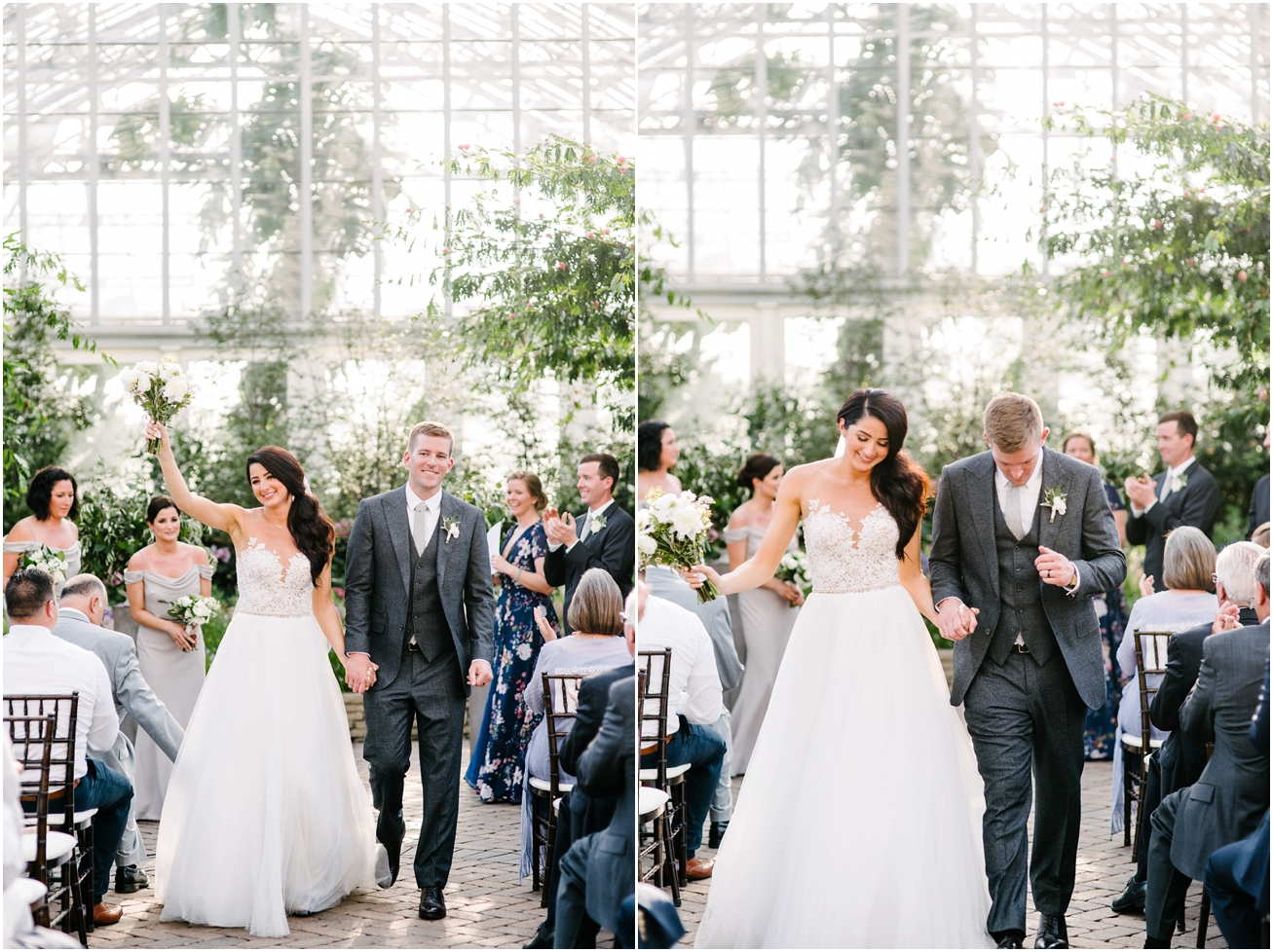 Garfield Park Conservatory Wedding.Michelle John Garfield Park Conservatory Chicago Wedding